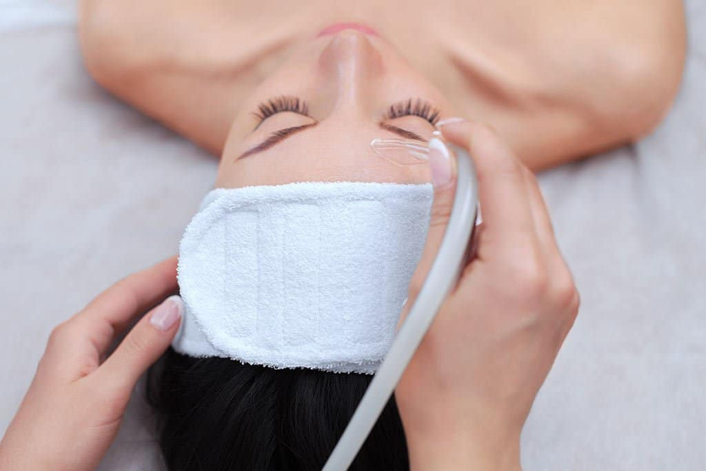 Hydradermabrasion skin care treatment